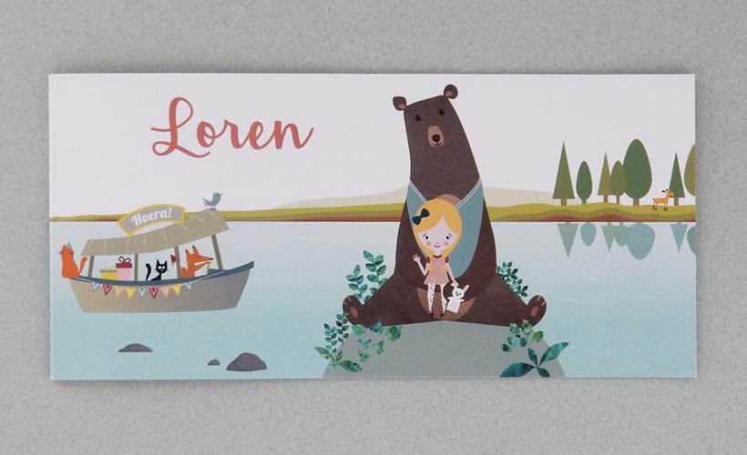Geboortekaart Loren StudioBont Kaarten