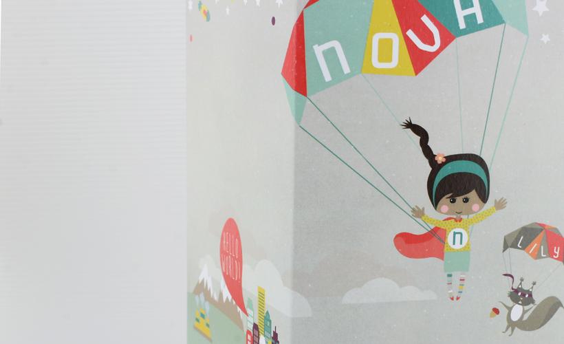 Geboortekaartje Ontwerp Kaarten Nova StudioBont