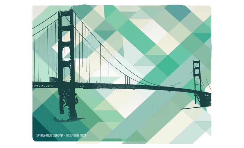 Illustratie StudioBont Marie Cecile print San Fransisco