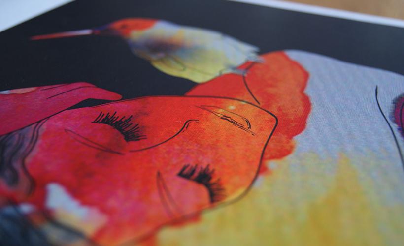 Illustratie StudioBont Tessa print Woman in Calm