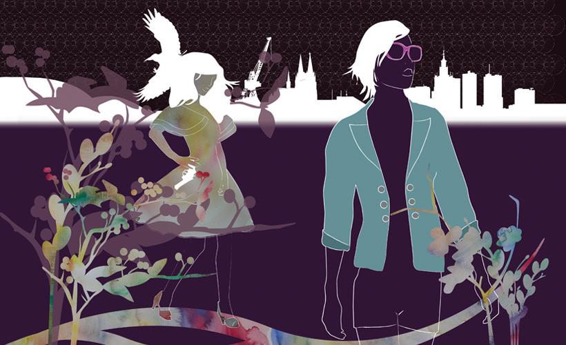 Illustratie StudioBont Tessa print Vicious spring walk