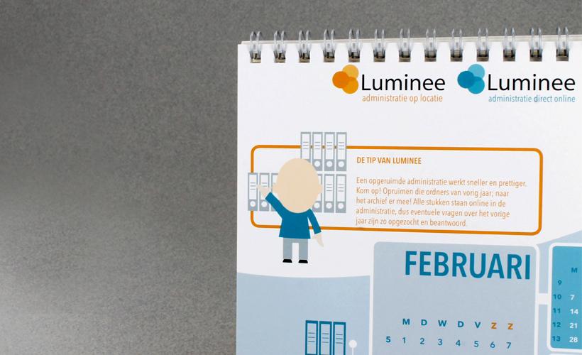 Luminee administratie op locatie kalender