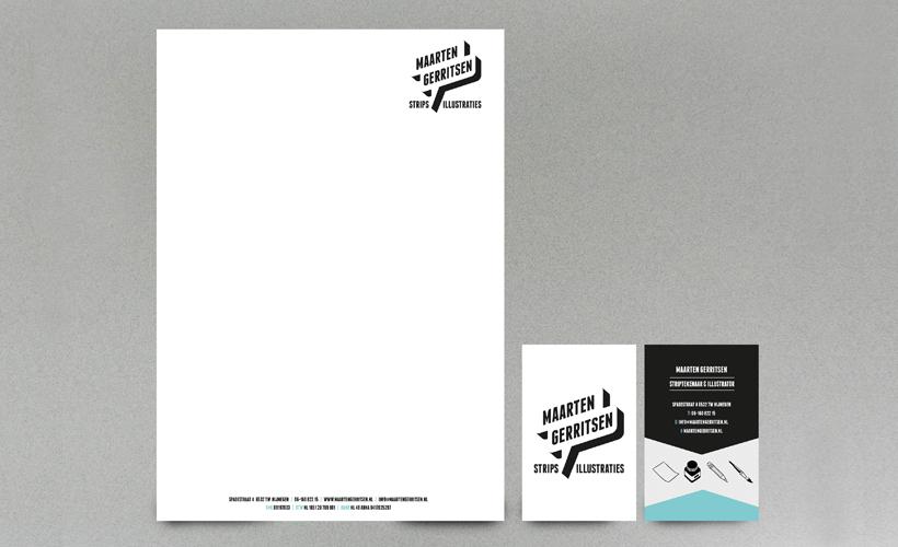 Maarten Gerritsen Strips & Illustraties huisstijl