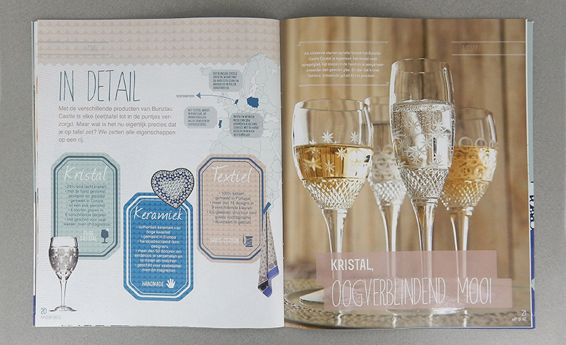 servies Bunzlau Castle magazine Way of Life Kristal glas