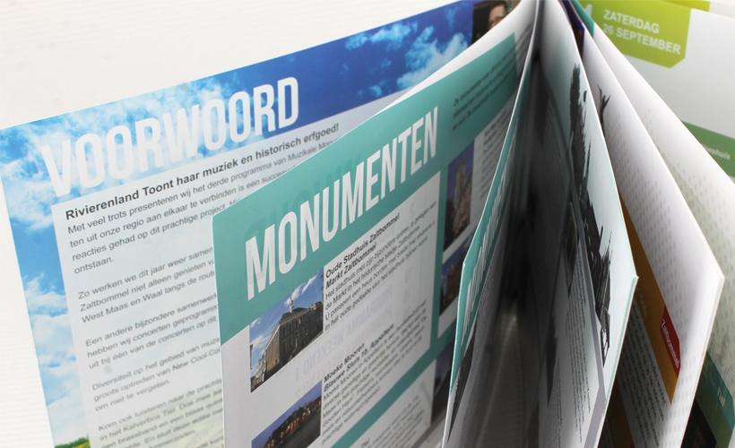 Muzikale Monumenten rivierenland programmaboekje