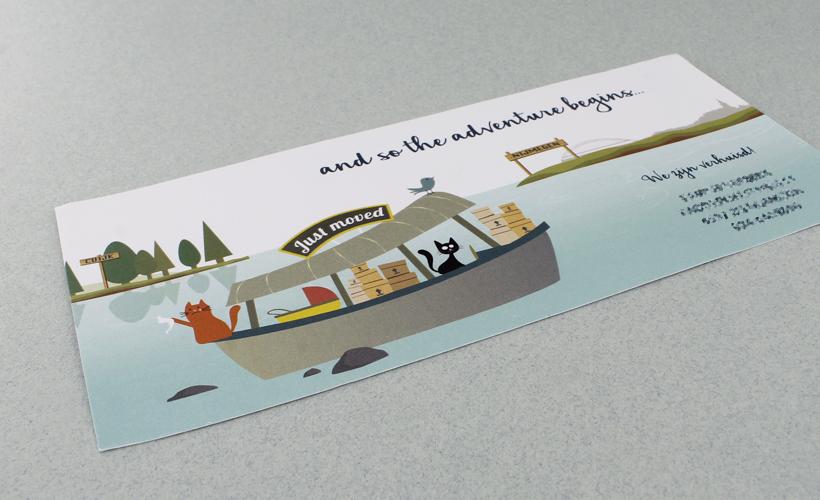 Verhuiskaart Cuijk Nijmegen StudioBont Kaarten