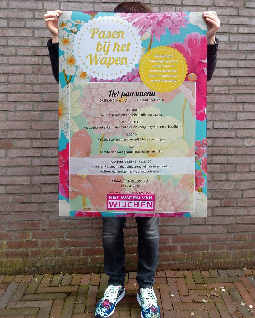 Wapen van Wijchen poster pasen paasmenu