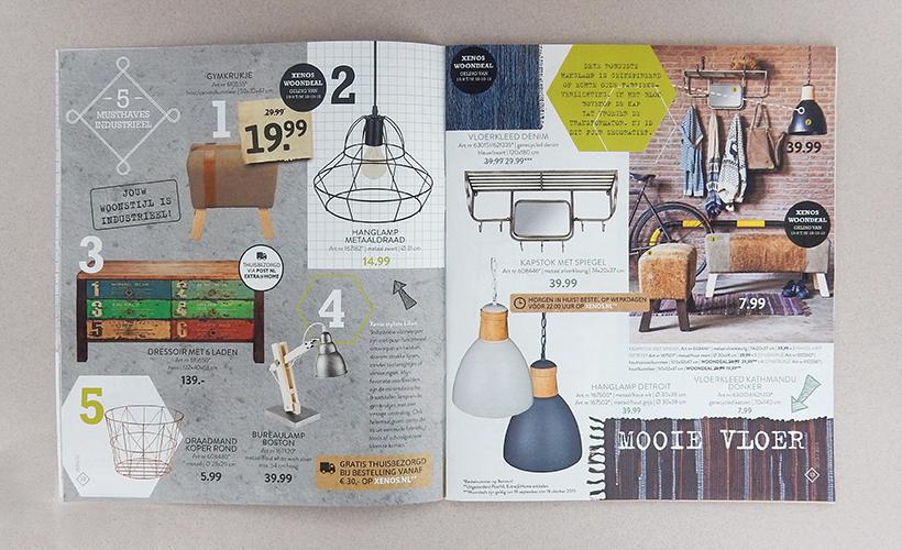 Xenos woonmagazine industrieel stijl