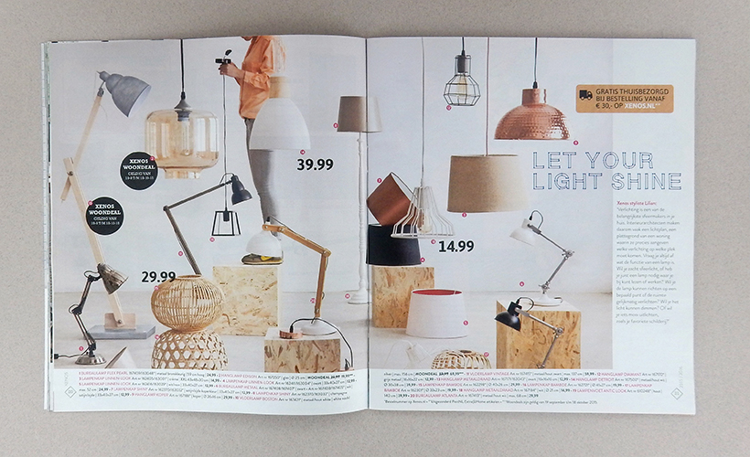 Xenos magazine lampen