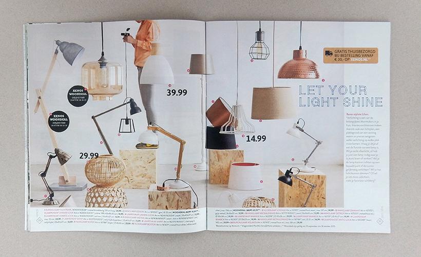Xenos trendy woonmagazine concept en vormgeving for Lampen xenos